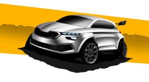 Skoda toont door studenten gebouwde Kamiq rallyauto-concept